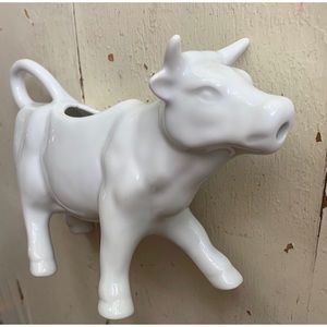 white porcelain cow creamer